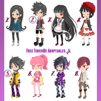 Free TinierMe Adoptables v4 -OPEN 4 and 5- by Asunaw