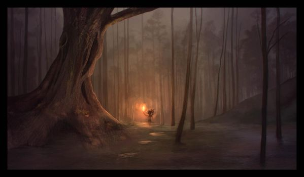 Swamp of Sadness - The Neverending Story by Mokka-Quill