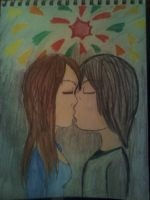 First Kiss by Artfanatic4life