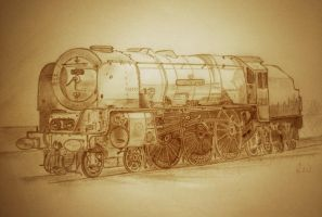 The Duchess of Sutherland locomotive by Pictaview