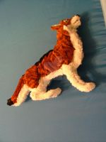 OOAK Pipe cleaner wolf by Lupineleigh