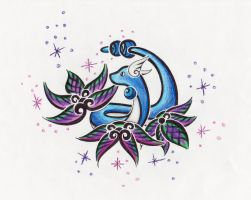 Dragonair Tattoo Design by ArticWolfSpirit