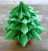 Origami Fir Tree by FroggyDreams