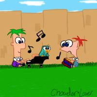 Playing Music by chowder-lover