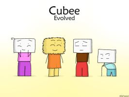 Cubee Evolved - The gang by ReFreezed