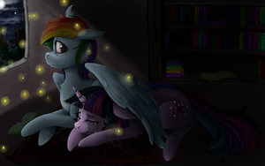 As she watches me while I sleep by colorlesscupcake