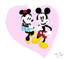 Minnie and Mickey Mouse by SingWriteDraw