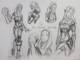 sketches Tali (73) by spaceMAXmarine