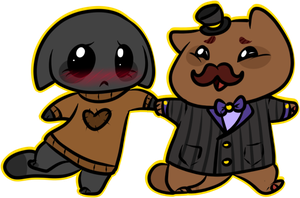 Mr. Buttons new friend by oCrystal