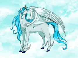 Winged Unicorn sold to Moskaluke by Airy-Styles