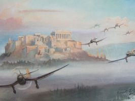 Stukas returning home... by TomfromHun
