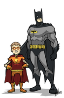 Charlie and Batman by kjmarch