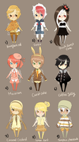Adopts::Desserts part 2 CLOSED by Pandastrophic