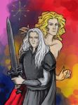 Elric and Arioch by AnotherStranger-Me
