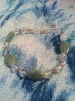 copper quartz crystal, jade, and ruby bracelet by Wolf-Lady-bsparks85