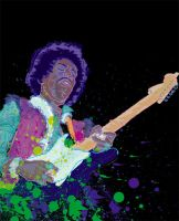 Jimi Hendrix by cephalopode