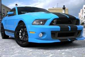 Customized shelby mustang gt500 2 by NightmareRacer85