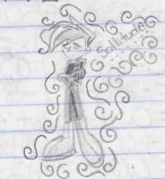 Pic I doodled in Math by WickedGhoul