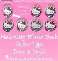 Hello Kitty MirrorBack Sticker by TNBrat