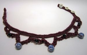 Burgundy Blues Necklace by Dragonrose36