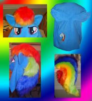 Rainbow Dash hoodie in progress by Bahzi