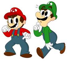Mario Bros by beesandbats