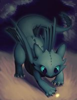 toothless and the laser light by AtomicFishbowl