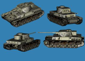 Pz IV textured model by falcon01