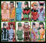 Bronze Age Avengers and Inhumans Sketch Cards by calslayton