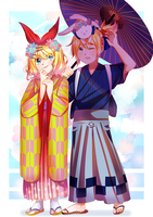 Rin and Len by enzouke
