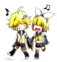 KHR: Kagamine BEL and SIEL by Abhie008