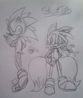 Sonic and Tails Sketch by tailsfan1996