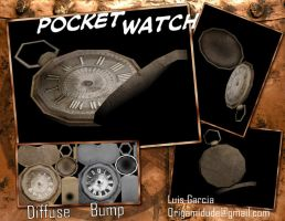 Old 3D - PocketWatch by origamidude