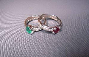 two colors ring by Debals