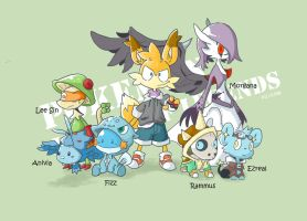 [CrossXover] Pokemon/ League of Legends colored by Wile-Z-Kitsune