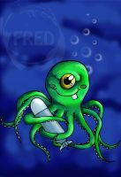 Fred the cycloptopus! by 13sticker