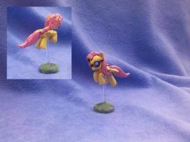 My Little Pony custom: flying Fluttershy + goggles by vulpinedesigns