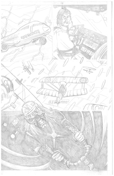 Iron Maiden page 1 pencils by DarrenEmond