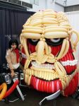 Mikasa Ackerman and Colossal Titan Balloon by seaofrabbitz