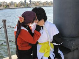 Yoruichi and Soifon -  Kiss by TyraelsWings
