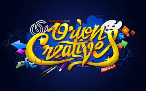 Orion Creatives theme typographic illustration by orioncreatives