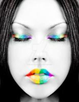 Rainbow Face by MezzanineArtistry