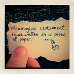 meaningless sentiment by andyhutchinson