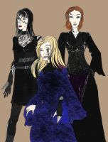 3 Monstrous sisters by Selinelle