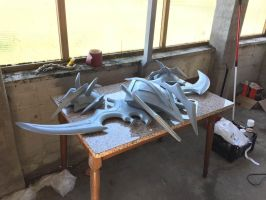 Warglaive of Azzinoth Illidan Cosplay WIP by MichelSay