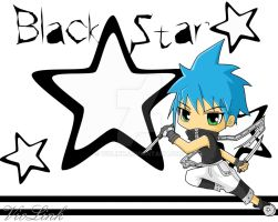 Black Star chibi_wallpaper by VioLink