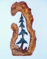 Tree in the burl by NMWoodcarver