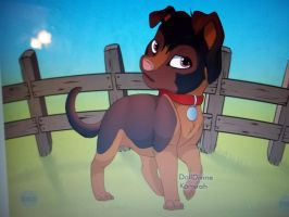 My Father as a dog by Briannathewingedwolf