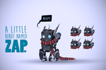 A little Robot named Zap!!! by ChasingArtwork