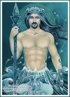 Tarot - King of Water by ravynnephelan